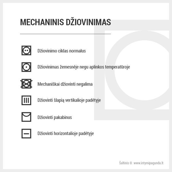 Medžiagų priežiūra: mechaninis džiovinimas